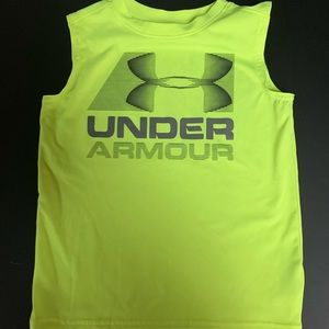 Under Armour  yellow size 6 little boy tank top